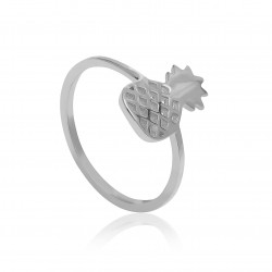 CZR1908 PINEAPPLE RING SILVER PL 925