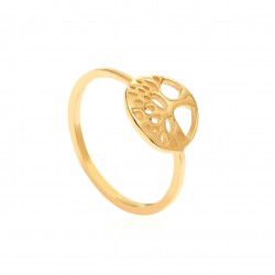 CZR1907 TREE OF LIFE RING GOLD PL 925