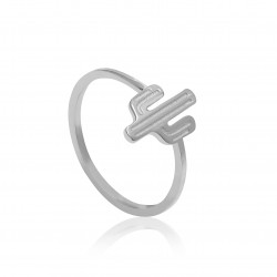 CZR1909 CACTUS RING SILVER 925