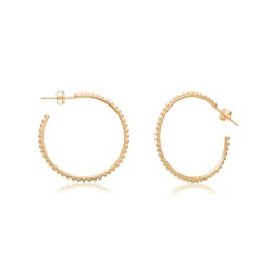 CZEAR1932 HOOPS EARRING GOLD PL 925