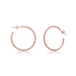 CZEAR1932 HOOPS EARRING ROSE PL 925