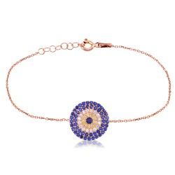 CZ0031B EVIL EYE BRACELET ROSE PL 925