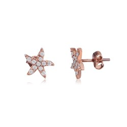CZEAR0377 STARFISH  EARRING ROSE PL 925