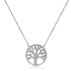CZ1765N TREE OF LIFE NECKLACE SILVER 925
