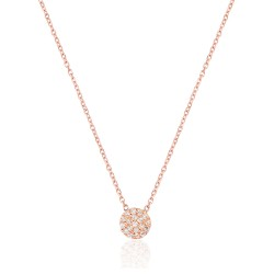 CZ0037N-1 ROUND NECKLACE ROSE PL 925