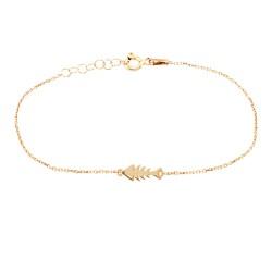 CZ4967B FISH BRACELET GOLD PL 925