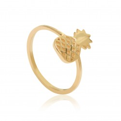 CZR1908 PINEAPPLE RING GOLD PL 925