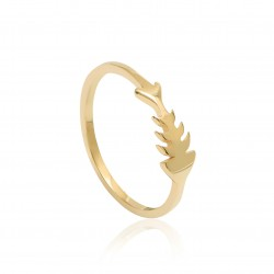 CZR1910 FISH RING GOLD PL 925